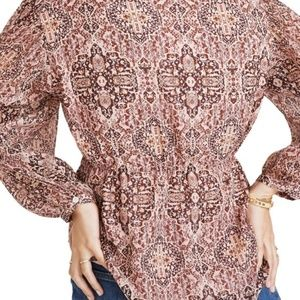 Madewell Tops - Madewell Kaleidoscope drawstring top/ small